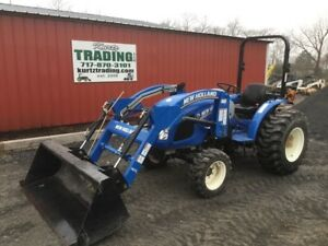 2016 New Holland Workmaster 33 4x4 Hydro Compact Tractor W Loader Only 177hrs