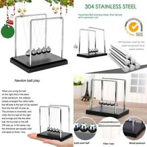 Newton s Cradle Metal Balance Ball With Wooden Base newtons Cradle 5 Balls With