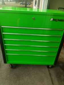 Snap On Tools Mean Green 40 Service Cart Yr Old