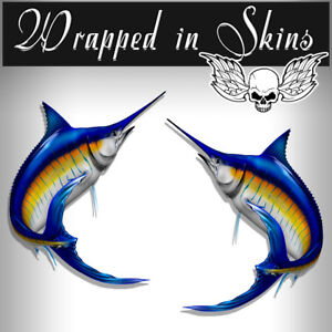 Rv Decals Graphics 2 Blue Marlin Fish Stickers 24 Boat Graphic Decals Rv 3