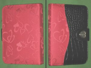 Compact 0 75 Red Heart Fabric Love Binder Day Runner Planner Franklin Covey