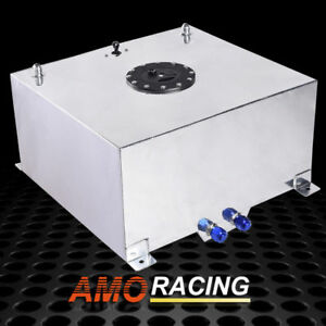 10 Gallon 38l Silver Polished Aluminum Racing Drift Fuel Cell Tank