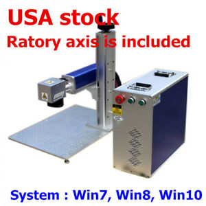 Usa Stock 20w Split Fiber Laser Marking Engraving Machine Ratory Axis Include