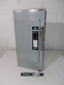Siemens Ite 600 Volt 100 Amp Fused Disconnect Safety Switch dis3699
