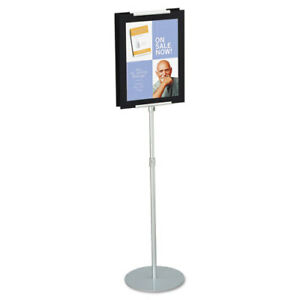 Adjustable Sign Stand Metal Stands 44 73 High Silver