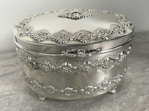 Sterling Silver 925 Esrog Box Preowned But Never Used Magnificent