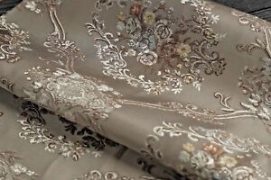 Upholstery Fabric Damask Quality Satin Jacquard Cushion Sofa Chair Luxurious Tr