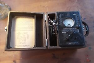 Vintage Weston Model 663 Type 6 Volt Ohm Meter With Case Steampunk