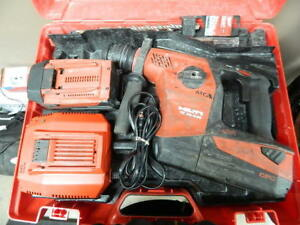 Hilti Te 30 A36 Kit 36v Li ion Rotary Hammer Drill W 2 Battery case Charger