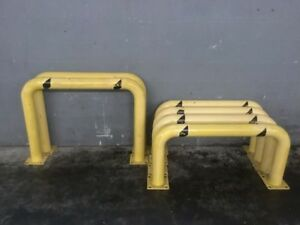 U Line Industrial Safety Guard Rails Lot Of 6
