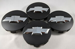 4x Matte Black Chrome Wheel Center Caps For Chevrolet Surburban Silverado Tahoe