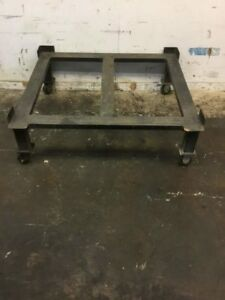 Metal Pallet Cart With Wheels 56 l X 51 w X 18 h