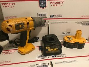 Dewalt Dw059 1 2 Drive 18v Impact Wrench W battery Charger please Read