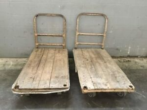 2 Industrial Push Carts 48 X 25
