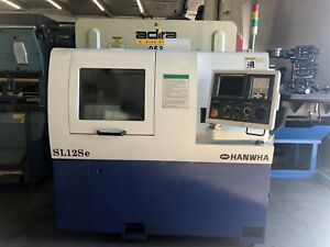 2005 Hanwha Sl12se Cnc Swiss Type Screw Machine Lathe Fanuc Oi tb