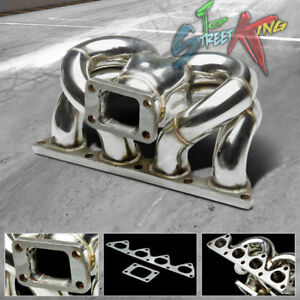 T3 Ram Horn Tubular Turbo Manifold For B Series B16a1 B18b1 Civic Em1 Db Dc2