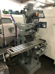 Eisen Veritcal Milling Machine 9 X 49 Table Dro Power Feed Clean