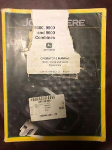 John Deere Operators Manual 9400 9500 And 9600 Combines omh161694