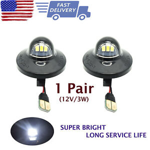 For 1990 2016 Ford F250 F350 High Power Led Smd License Plate Light Bulb Pair Us