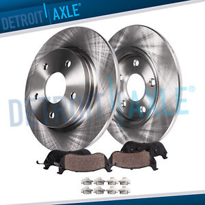 Rear Brake Rotors Brakes Pads Rwd V6 Charger 300 Rotor Ceramic Pad Kit
