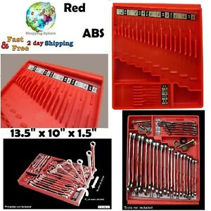 Wrench Socket Organizer Tray Sorter Holder Rack Tool Box Trays Compact Portable