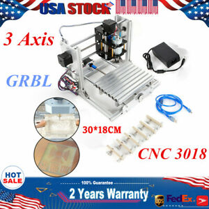 Diy Mini 3 Axis 3018 Cnc Router Milling Wood Carving Engraver grbl Control Er11