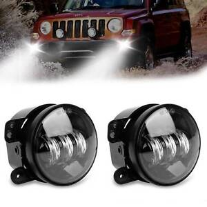 4 Inch 30w Driving Amber Cree Led Projector Fog Lights For Jeep Wrangler Jk