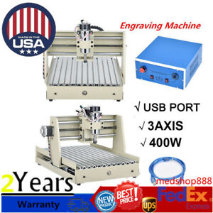 Usb Port 3 Axis 3040 Router Engraver 400w Drilling Milling Machine 3d Cutter Usa