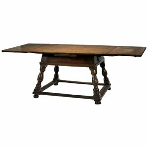 Antique Swiss Draw Leaf Extension Table