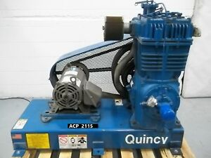 Quincy Qr25 390 2 Stage Air Compressor 15 Hp 2 Cylinder acp2115