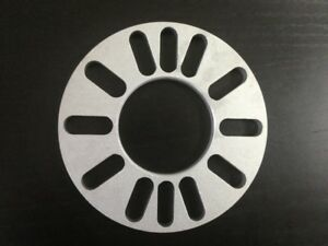 A Pair Wheel Spacers 5 Lugs 3mm Thick Universal Fit Spacer