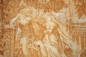 Curtain Antique French Toile De Normandy Marie Stuart Gold Wedding Fabric