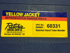 Ritchie Yellow Jacket 60331 Ratchet Hand Tubing Bender