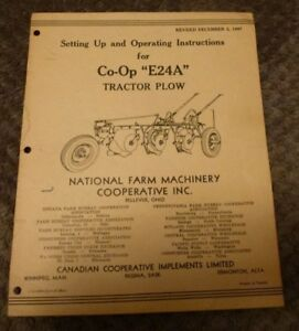 Co op E24a Tractor Plow Manual 1947