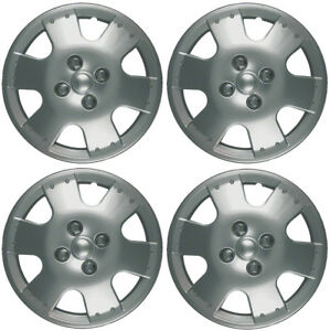 New Set Of 4 14 Inch Silver 6 Spoke Aftermarket Wheel Covers