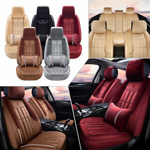 11pc Plush Fur 3d Seat Covers Front Rear Cushion Warm Winter Full Sets Universal