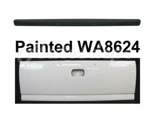 Painted Wa8624 Tailgate With Spoiler Cap Molding For Silverado Fleetside 99 06