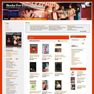 Potential Online Income Entertainment Book Business Website For Sale Free Domain