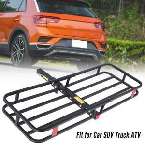 Folding Steel Rack Cargo Luggage Hold Carrier Basket 2 Hitch Car Suv Truck Atv
