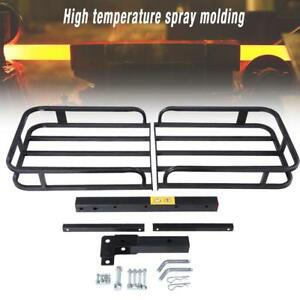 Folding Universal Rack 2 Hitch Cargo Carrier Luggage Basket Car Suv Truck Atv