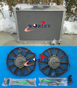 3 Rows Aluminum Radiator For 1963 1966 Chevy Truck C10 C20 C30 64 65 66 2 Fans