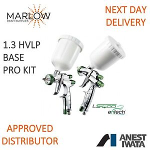 Anest Iwata Ls400 Hvlp 1 3 Entech Super Nova Spray Gun Pro Kit Basecoat