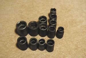 13pc 1 2 Drive Black Sockets Cornwell Wright Proto Armstrong Non impact Shallow