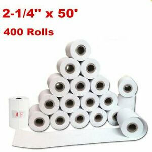 400 Rolls Case 2 1 4 X 50 Thermal Credit Card Cash Register Pos Receipt Paper
