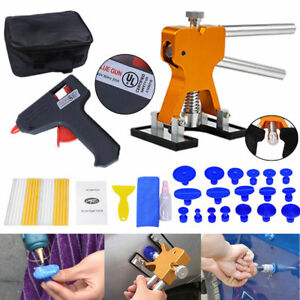 Paintless Dent Repair Removal Pdr Tools Kit Dent Lifter Puller Tabs Glue Gun Set