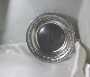 Reed Barton 6 Silver Plate Candy Dish Bowl 1203 Double Border Pattern