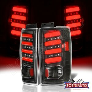 For 1997 2002 Ford Expedition Black 3d Red Tube High Power Tail Lamp Lights L r