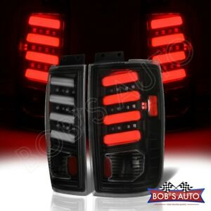 For 1997 2002 Ford Expedition Black Smoke 3d Tube High Power Tail Lamp Lights