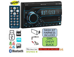 Fits Chevy gmc Truck van suv Usb Bluetooth Radio Stereo Double Din Dash Kit
