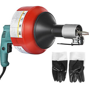 Drain Cleaner 26 x1 3 Electric Drain Auger Plumbing Cleaning Machine 700w